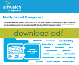 Mobile Content Management with AirWatch Secure Content Locker