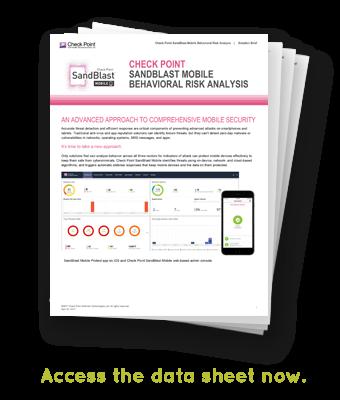Check Point SandBlast Mobile Data Sheet